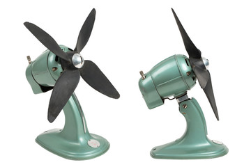 vintage (industrial design) fan - two perspectives