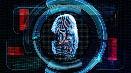 Fingerprint Scan Technology Security (4K Animation)