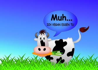Vegane Kuh / Vegan / Cow /