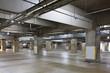Parking garage underground interior, neon lights in dark . - 79001459