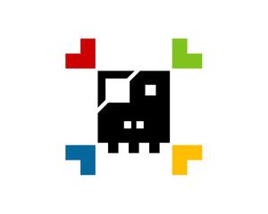 pirate pixel colorful