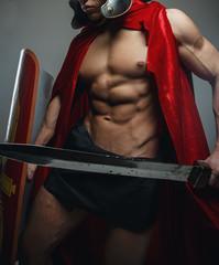 Roman warrior with sword.
