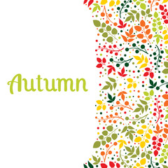 Autumn falling leaves background.Can be used for wallpaper