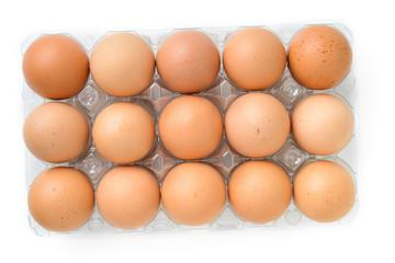 eggs in plastic box