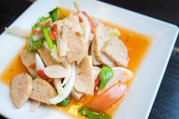 spicy sausage salad