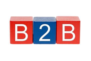 bunte Holzbausteine - B2B
