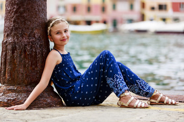 Portrait of lovely girl - Portofino, Italy