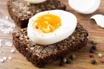 Hard boiled egg sandwich