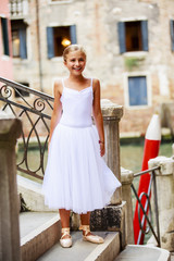 Ballet, ballerina - young ballet dancer in Venice, Italy