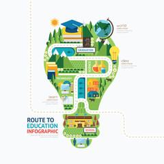 Infographic education template design.learn concept vector illus