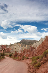 Lonely Long Road to Bryce Canyon National Park in Colorful Vibra