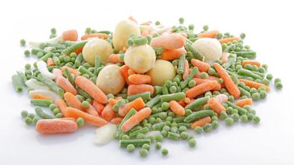 Petits légumes surgelés