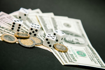 American dollars and dice