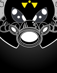 Scary Halloween Face Vector Drawing