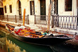 canvas print picture - Gondel in Venedig
