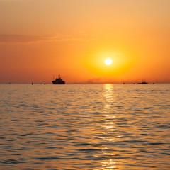 Boat sailing on the sea