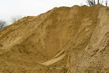 Sand mound in a quarry