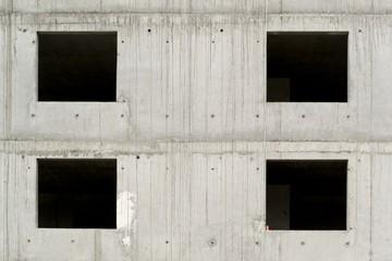 Grey concrete building block under construction