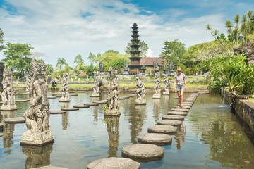 Tourist at Tirtagangga water palace