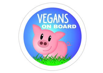 Vegans on Board / Schwein / PIg