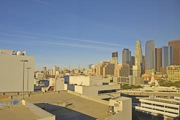 早朝のロサンゼルスダウンタウン