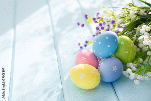 Foto op Aluminium Uitvoering Easter Eggs