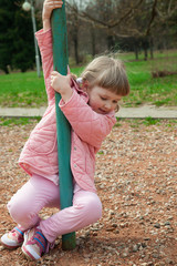Active little child playing