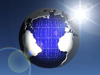solar cell earth