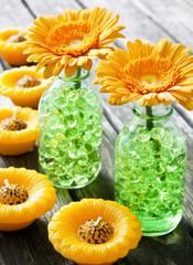 Dekoration - Blumen und Kerzen