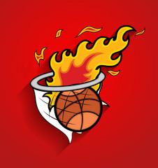 Basket Fireball Vector Graphic