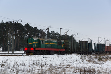 powerful cargo train