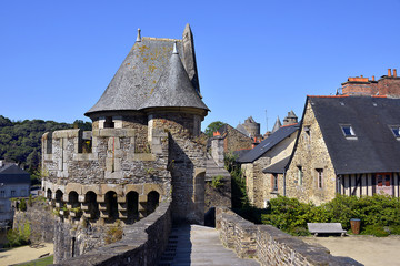 Castle of Fougères in France