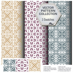 Vector pattern collection that includes 3 brushes