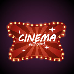 Cinema retro billboard