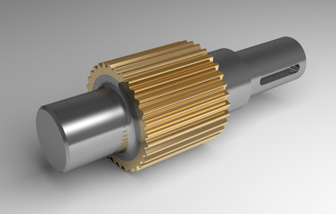 Metallic gear shaft