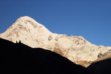Sunrise and Mount Kazbek