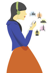 TRAVEL WOMEN. PHONE. ICON