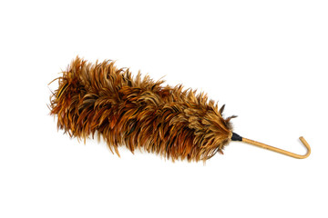 Feather duster for cleaning isolated