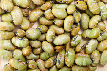 dry roasted and salted edamame nuts, green nut