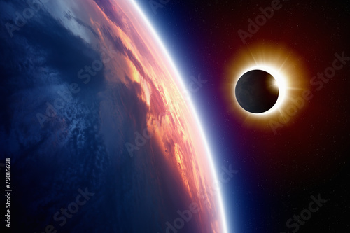 Fototapeta Sun eclipse