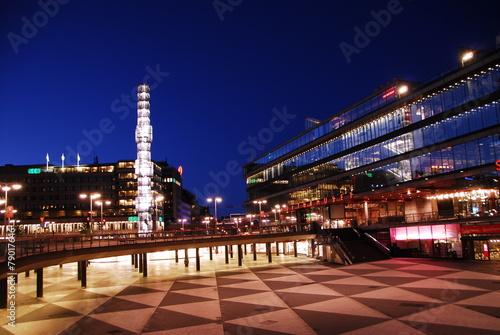 Leinwanddruck Bild Stockholm - Sergels Torg
