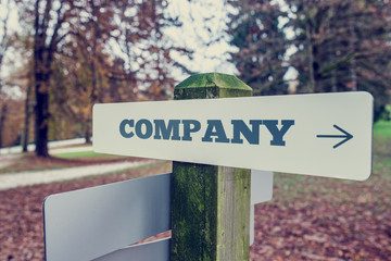 Company signboard