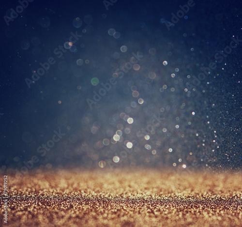Poszter glitter vintage lights background. light silver and black. defoc