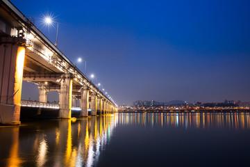 Banpo Bridge at night, Seoul, Soth Korea