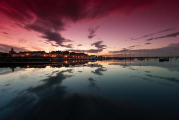 Sunset at Yacht Bay in Malahide