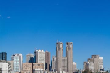 新宿西口 都庁と高層ビル群 High-rise building of Nishishinjuku, Tokyo, Japan