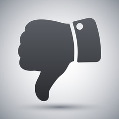 Vector hand with thumb down icon