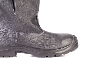rubber boot black color
