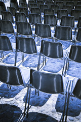 Chairs of an outdoor cinema