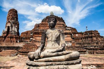 Buddha statue at Wat Mahathat, Ayutthaya